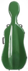 Bobelock 2000W Fiberglass Green/Tan 4/4 Cello Case with Wheels